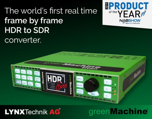 LYNX Technik's HDR Evie™ Wins NAB Product of the Year Award